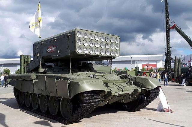Тяжелая огнеметная система ТОС-1А «Солнцепек».
