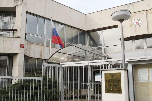 Здание консульского отдела посольства РФ в Праге.