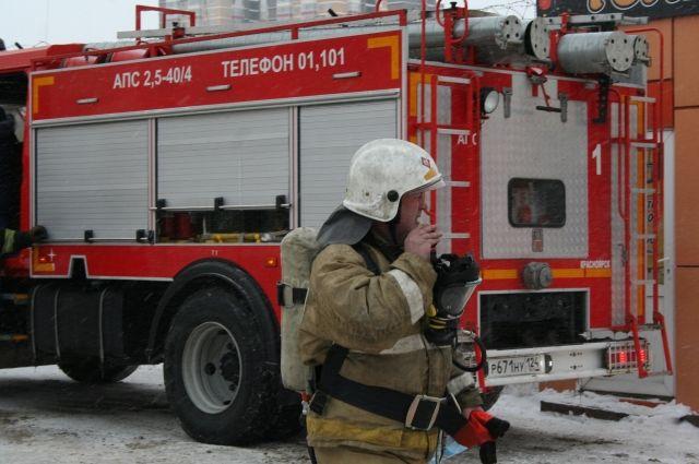 На месте пожара работали пять огнеборцев.