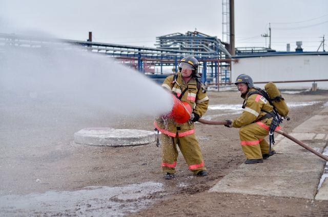 На Капитоновском месторождении прошли пожарно-тактические учения.