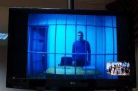 С осужденным Владимиром Санкиным была организована видеоконферецсвязь.