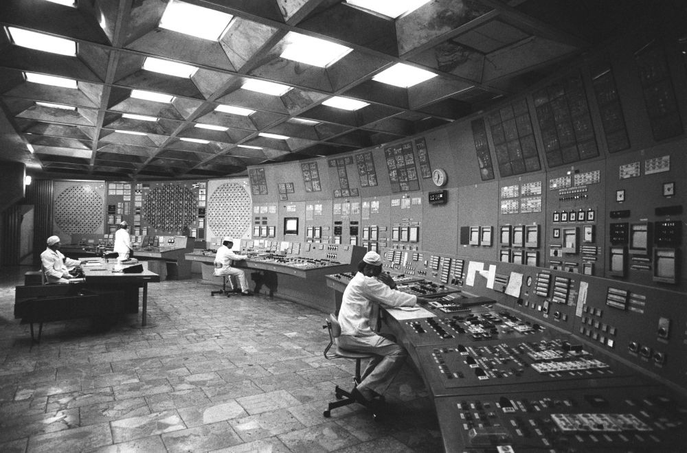 В помещении блочного щита управления энергоблока Чернобыльской атомной электростанции, 17 ноября 1985 года