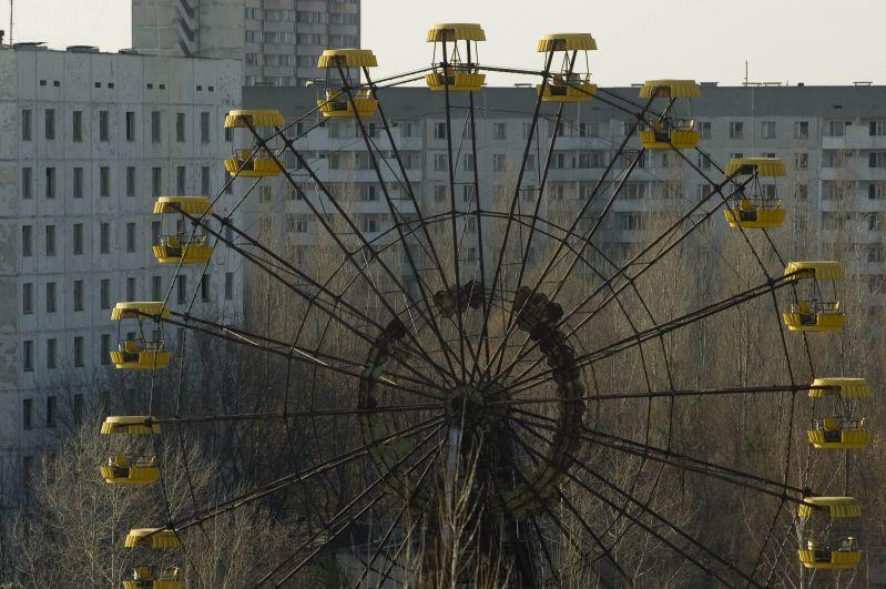 Колесо обозрения в Припяти, 2006 год
