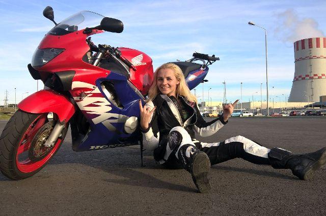 Оксана - одна из основательниц первого в области женского мотоклуба.