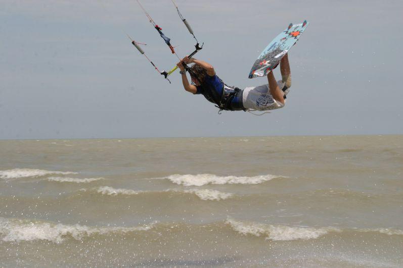 Кайтсёрфинг на Азовском море в Ейске (Краснодарский край)