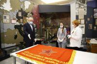 В отдел военной истории Кузбасского краеведческого музея поступили боевые знамена 237-й стрелковой Пирятинской и 376-й стрелковой Кузбасско-Псковской Краснознаменных дивизий.