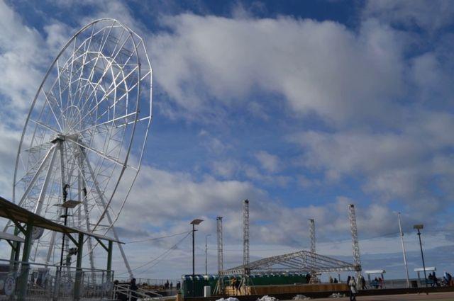 Колесо обозрения «Глаз Балтики» в Зеленоградске начнёт работу до 1 июня