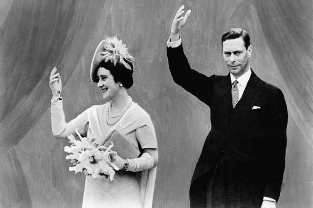 Король Георг VI и королева Елизавета, 1939 год.