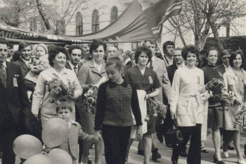 Майская демонстрация в Анапе, 1970-1980 годы.