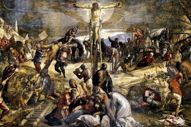Якопо Тинторетто. Распятие Иисса Христа