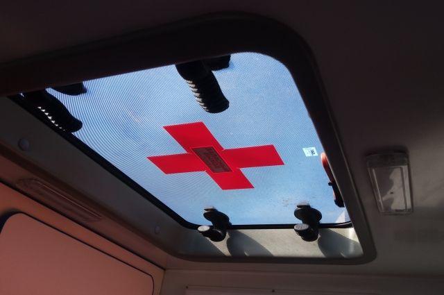 В Омске после аварии госпитализировали водителя автобуса