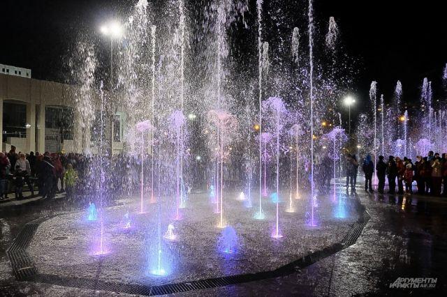 «Театральный фонтан» у Театра-Театра будет работать с 21.45 до 22.00.