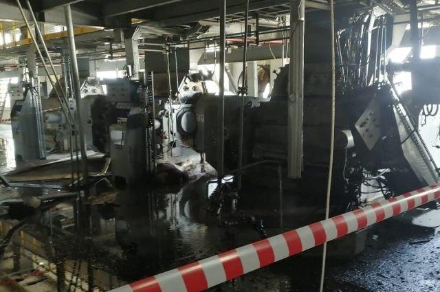 В Оренбуржье на заводе произошел хлопок.