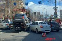 Затор образовался на перекрёстке улиц Луначарского и Куйбышева.