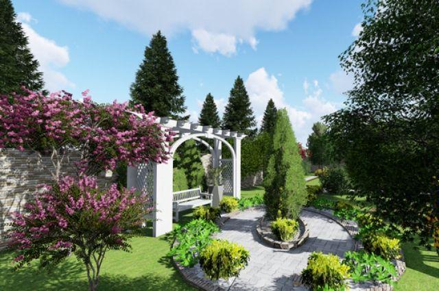 Пергола - это модная малая архитектурная форма на даче.