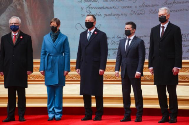 Зеленский и четыре лидера ЕС подписали совместную декларацию.