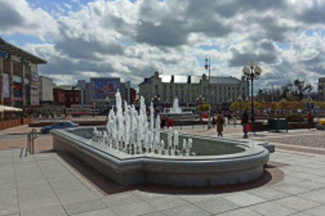 В Калининграде заработали фонтаны