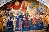 Мозаика на станции метро «Киевская» в Москве создана в 1953 г. и посвящена 300-летию воссоединения Украины и России. Воссоединимся ли снова?