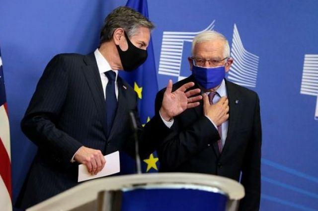 Госсекретарь США обсудил Украину с главным дипломатом ЕС