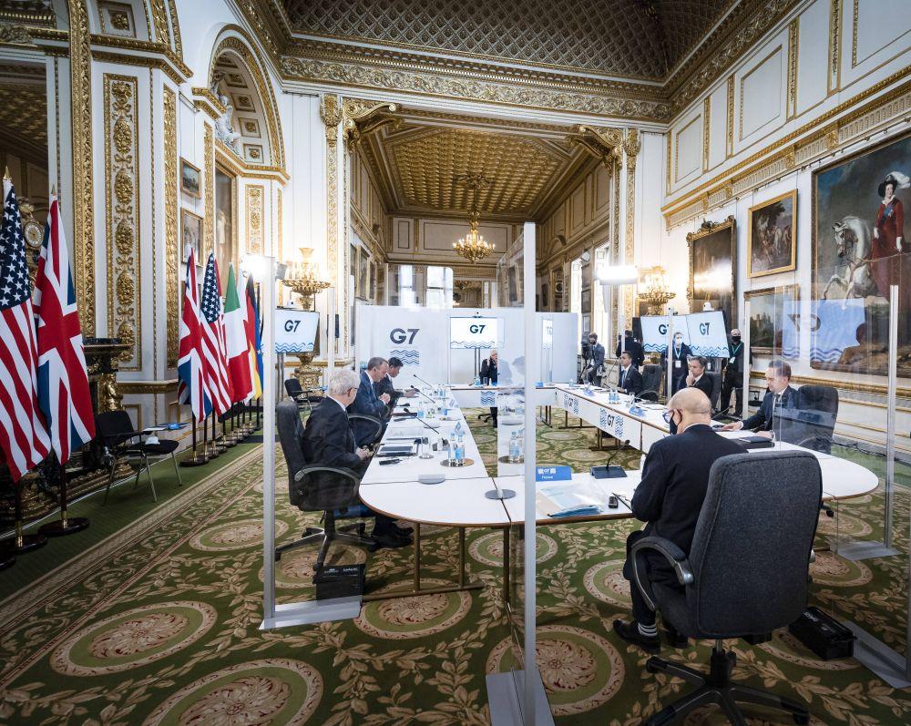 Пленарное заседание глав МИД стран G7