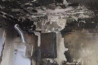 Возгорание произошло в жилом доме на улице Бурзянцева.