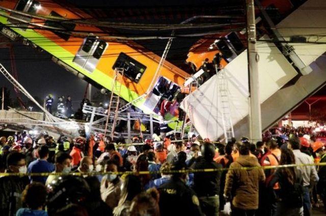 Обвал метромоста в Мехико: объявлен трехдневный траур.