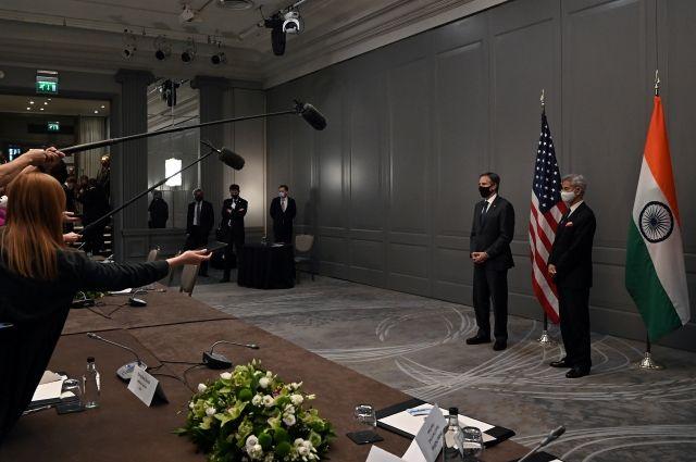 Госсекретарь США Этони Блинкен и глава МИД Индии Субраманьям Джайшанкар