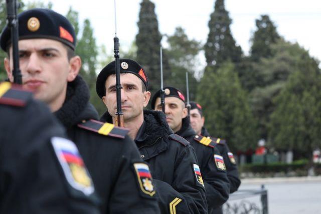 Репетиция военного парада в Каспийске. Фото: