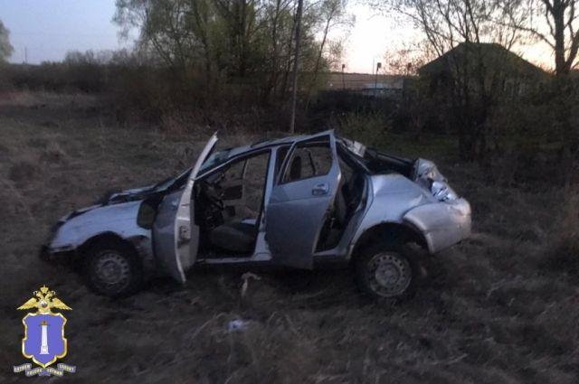 В Инзенском районе разбилась «Приора»: два человека в больнице