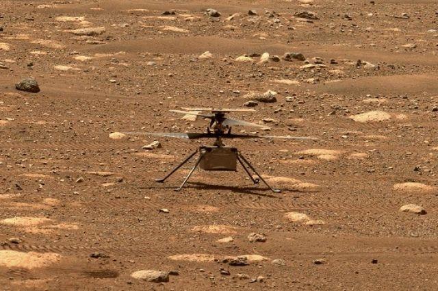 Вертолет NASA планирует совершить пятый испытательный полет на Марсе.