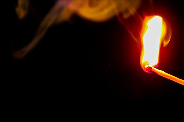 Возгорание произошло в многоквартирном доме