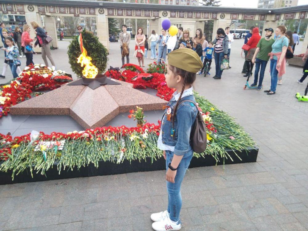 Вечный огонь в парке Победы.