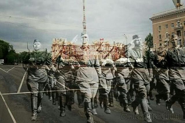 Фотохудожник «вернул» погибших воинов Победы на улицы Ростова