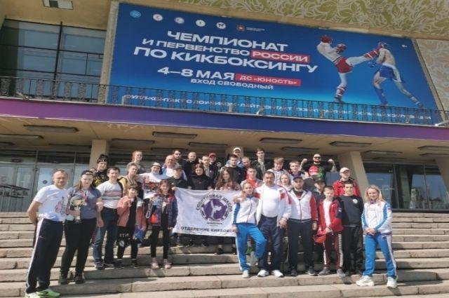 Красноярские кикбоксеры.