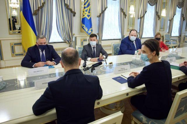 Зеленский провел встречу со спикером Сейма Литвы