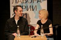 Режиссер Савва Савельев и актриса Ингеборга Дапкунайте.