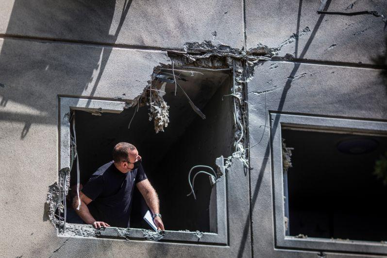 Последствия обстрелов в Ашкелоне