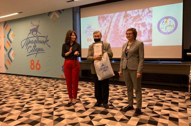 Председатель оргкомитета Елена Дягилева назвала Виктора Шубина лучшим спортивным корреспондентом международного Праздника Севера.