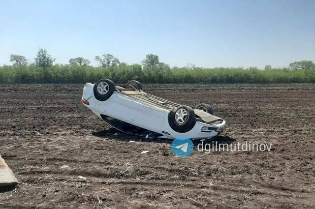 Водительница иномарки пострадала в ДТП с вылетом в кювет в Башкирии