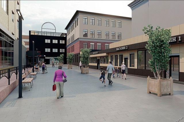 Вот так будет выглядеть переулок после ремонта.