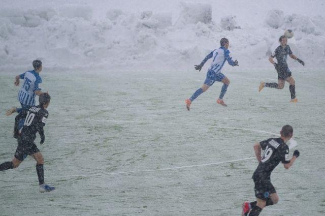 Снежный матч попал и в иностранный Твиттер
