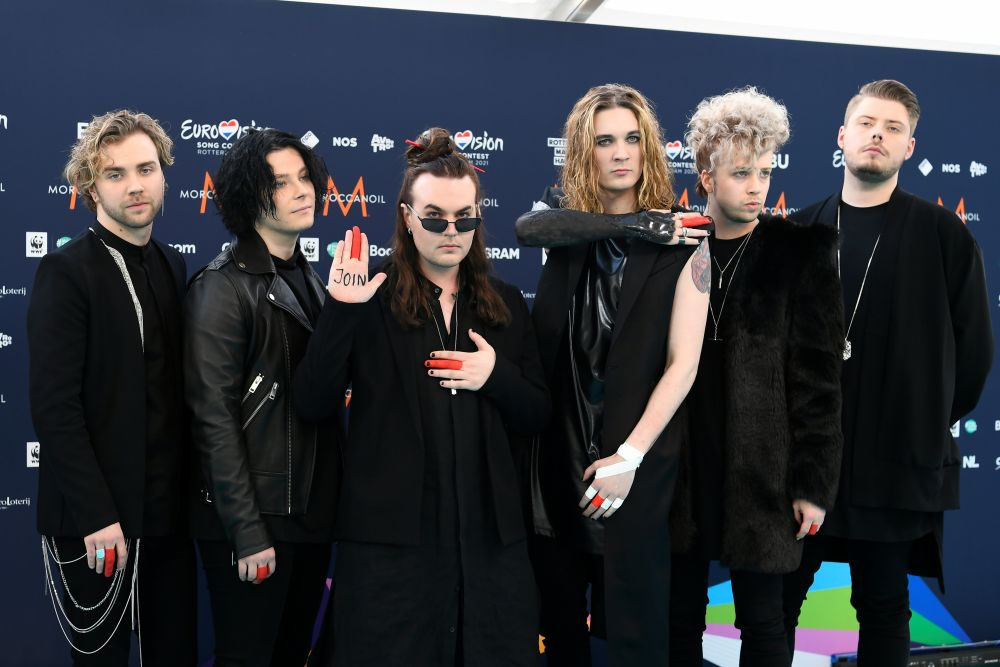 Участники рок-группы Blind Channel (Финляндия)