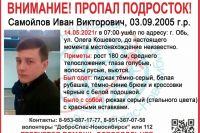Волонтеры просят жителей Новосибирской области быть бдительными и обращать внимание на прохожих на улице: возможно, один из них — пропавший подросток.