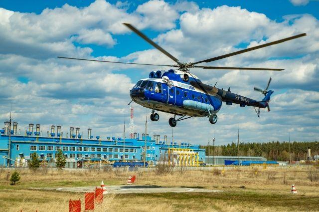 На территории Тольяттинского филиала есть вертолетная площадка, откуда удобно взлетать на маршрут.