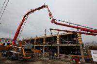 В июле планируется завершить монтаж каркаса здания.