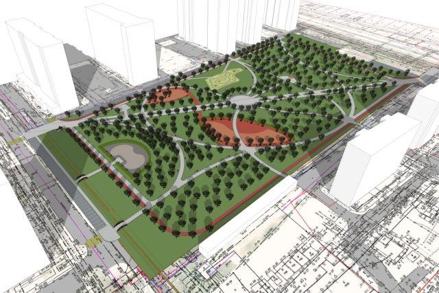 Проектирование парка в Молодежном микрорайоне.