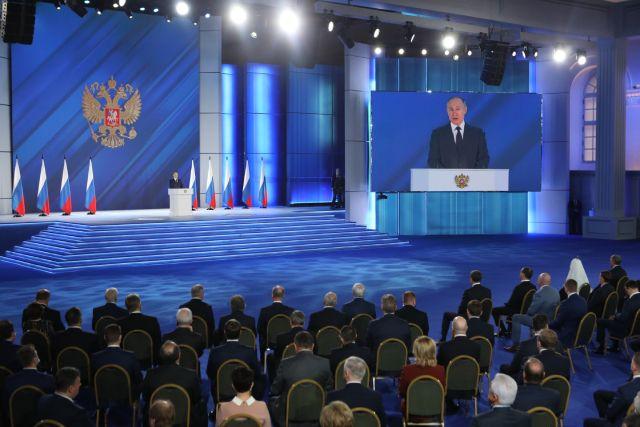 Ежегодное послание президента России Владимира Путина Федеральному Собранию.
