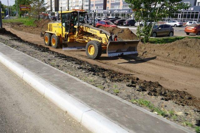 Началось строительство кольцевой развязки на ул. Рокоссовского и пр. Победы областного центра.