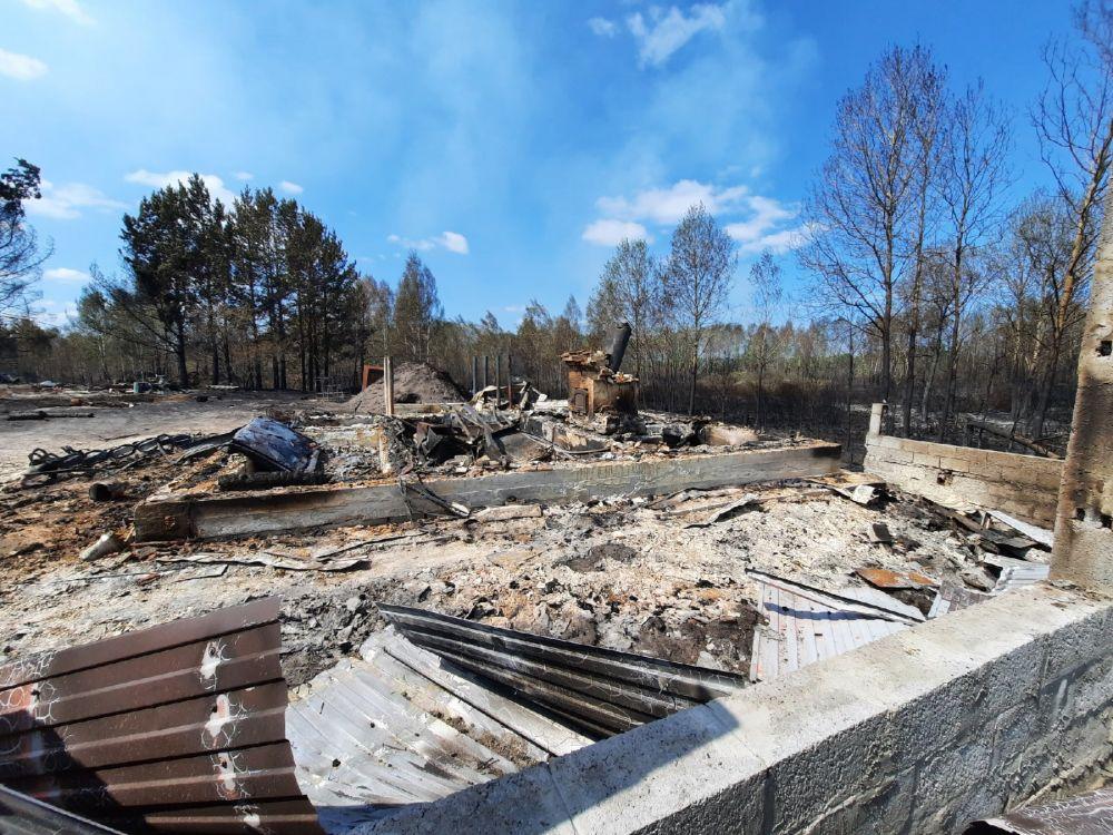 Сгоревшие дачи в СНТ «Солнышко», Тюменский район - 2021.