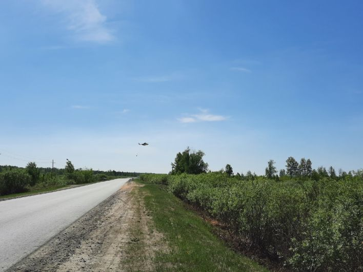 Привлечена авиация. Сгоревшие дачи в СНТ «Солнышко», Тюменский район - 2021.